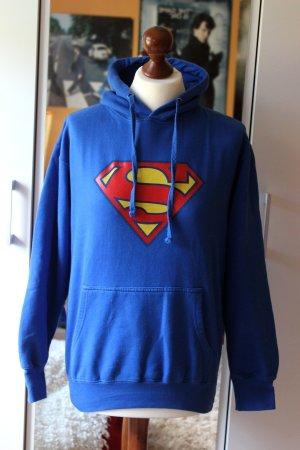 Blauer Superman Hoodie Pullover DC 36 38 S