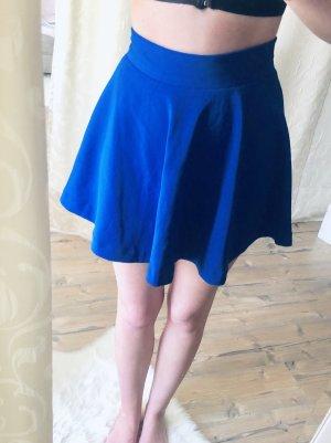Jupe tulipe bleu-bleu acier