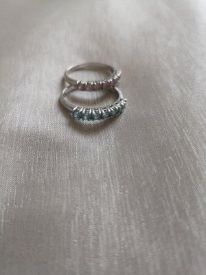 Silver Ring mauve-light blue