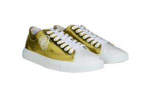 Blauer Lace-Up Sneaker gold-colored