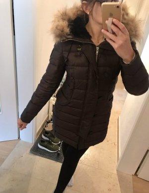 Blauer Manteau en duvet brun foncé