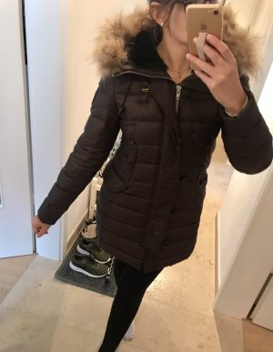 Blauer Abrigo de plumón marrón oscuro