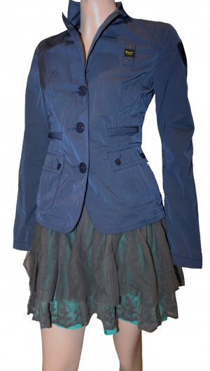 Blauer Winterjack donkerblauw Polyester