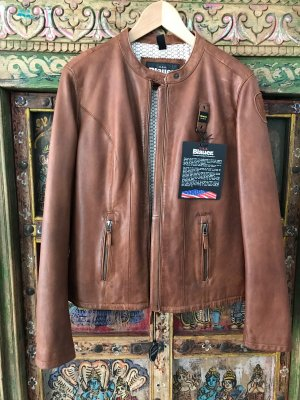 Blauer Leather Jacket brown leather