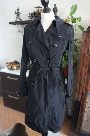 Blauer Trench nero