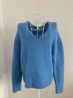 H&M Maglione con scollo a V blu neon