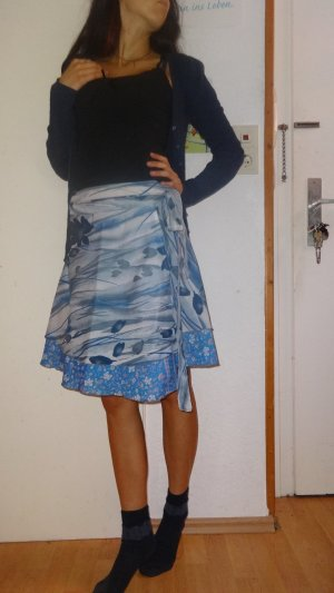 Wraparound Skirt multicolored silk