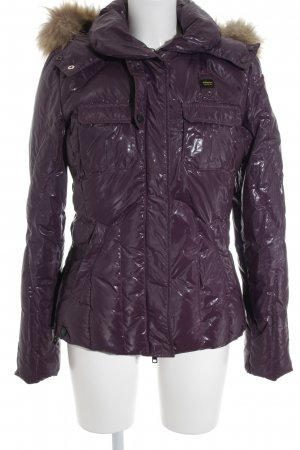 Blauer Winter Jacket light brown-lilac athletic style
