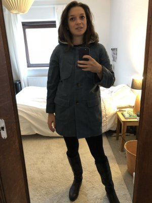 Comptoir des Cotonniers Abrigo con capucha azul acero