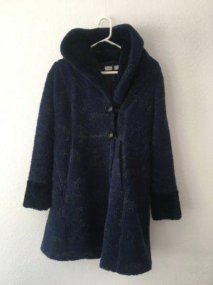 Blauer Wintermantel mit Muster von FOX´S aus Fellimitat