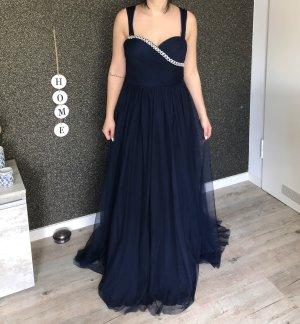 Peek & Cloppenburg Evening Dress dark blue-silver-colored