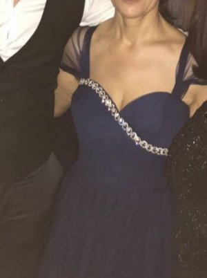 Blaues Abendkleid