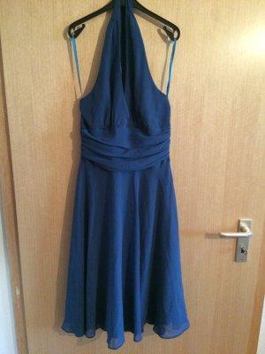 Blaues Abendkleid / Neckholderkleid