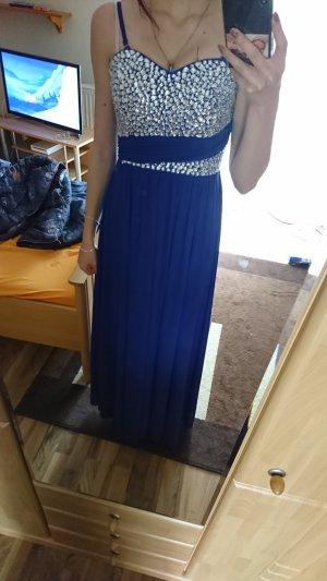 Blaues Abschlusskleid