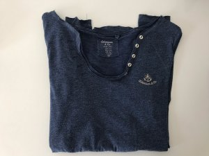 Adenauer & Co Long Shirt slate-gray-steel blue