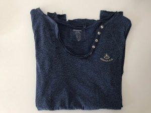 Adenauer & Co Lang shirt leigrijs-staalblauw