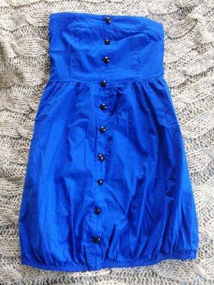 Vero Moda Balloon Dress blue cotton