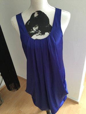 H&M vestido de globo azul-azul neón