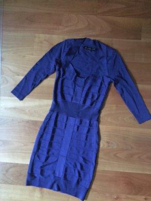 Blaues Bandage Kleid von French Connection, Größe 32