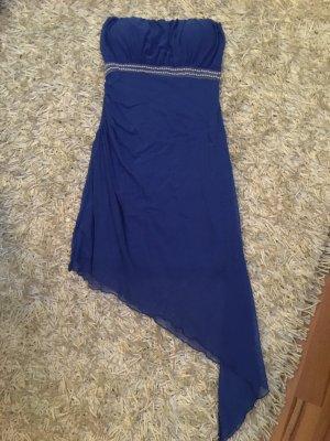 Blaues Bandeau Kleid