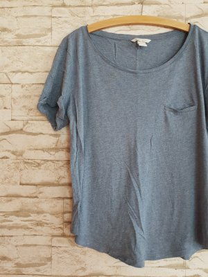 Blaues Basic Shirt