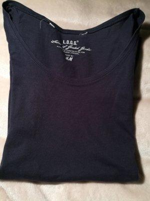 Blaues basic T-Shirt