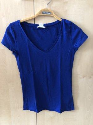 Blaues Basic T-Shirt von H&M