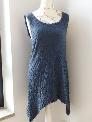 Robe tunique bleu foncé coton