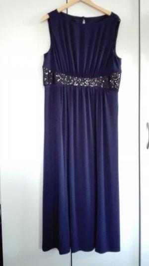 blaues bodenlanges Kleid