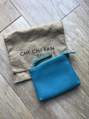 Chi Chi Fan Wallet petrol-cadet blue leather