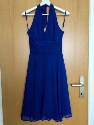 blaues Cocktail-Kleid