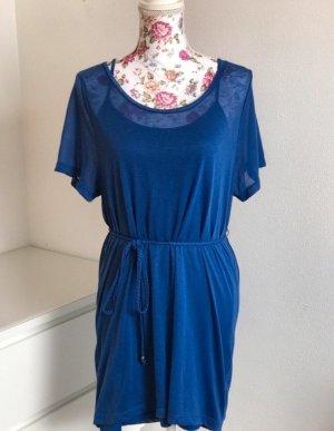 Blaues durchsichtiges Kleid + Unterkleid