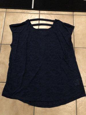 blaues durchsichtiges Shirt von Yessica / C&A - Gr. L, wenig getragen