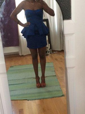 Blaues enganliegendes Kleid - forever unique