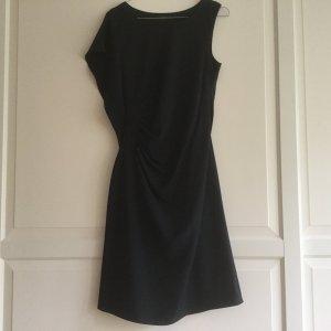 Blaues Esprit Collection Etui Kleid mit Flügelarm und seitlicher Raffung