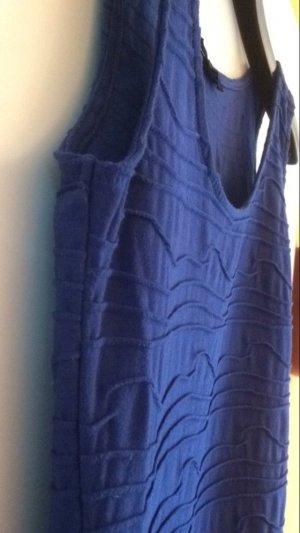 Blaues Etuikleid aus Tshirtstoff