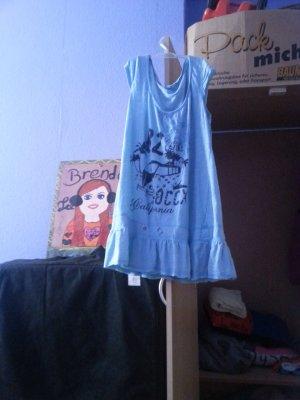 blaues etwas längeres T-Shirt