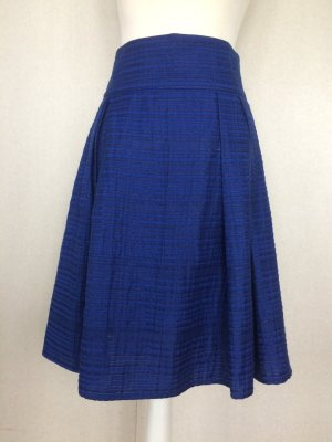Plaid Skirt blue silk