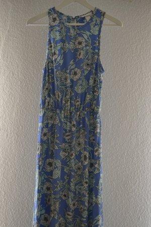 Blaues Florales Maxikleid von H&M