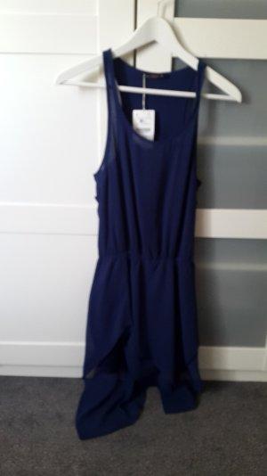 Blaues Fransenkleid von Bershka Größe M