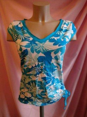 blaues gemustertes T-Shirt - NEU mit Etikett