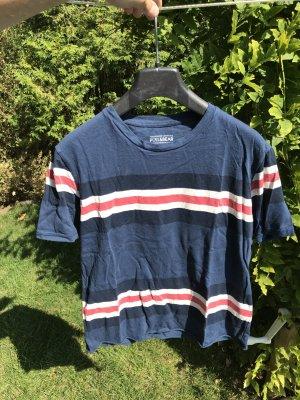 Blaues gestreiftes T-Shirt Pull&Bear Gr. S