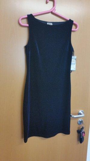 Blaues Glitzer Samt Kleid Gr. 36