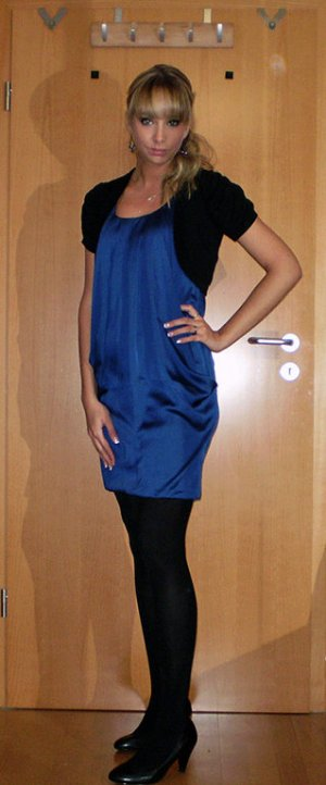 H&M vestido de globo azul
