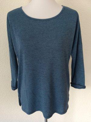 blaues / hellblaues meliertes Shirt / Dreiviertelarmshirt von Amisu - Gr. L