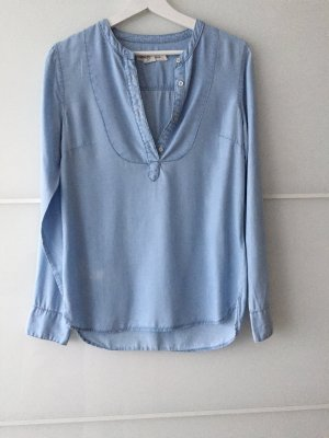 Chemise en jean bleu azur