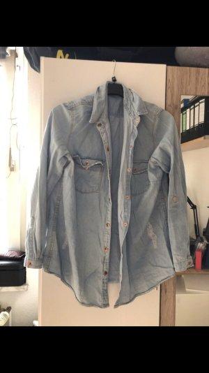 Kik Chemise en jean bleu azur