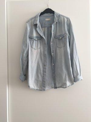 Blaues Jeans Hemd H&M