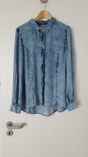 blaues Jeanshemd / Bluse