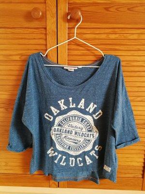 Blaues Jersey-Shirt
